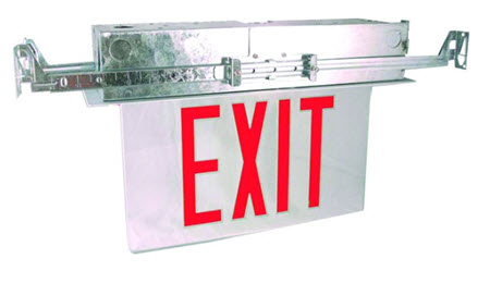 Led Edge Lit Recessed Exit Signs 866 637 1530