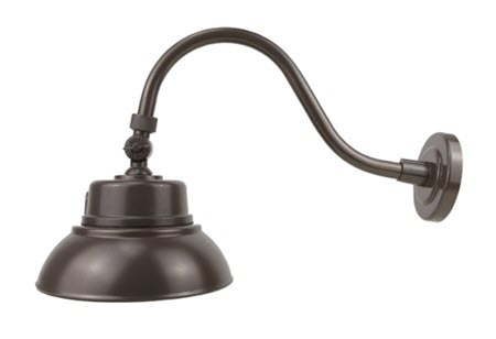 LED gooseneck lights - bronze finish - 25 watt - 4000K
