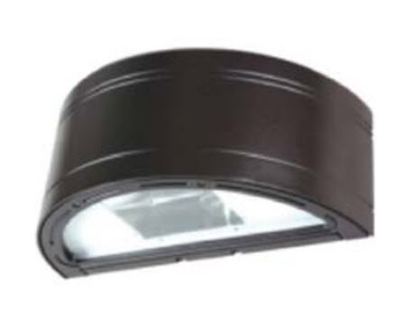 Half round LED wallpack light fixture