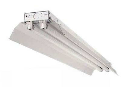 LED 2-Lamp industrial lighting fixture with 3500K lamps included