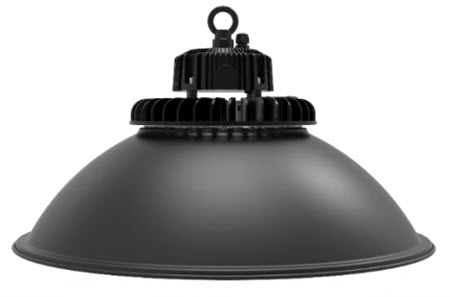 LED LOD black reflector high bay light fixture - 200 watt
