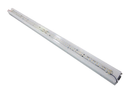 Mobern LED low profile industrial strip light fixture 8 foot 74 watt 3500K