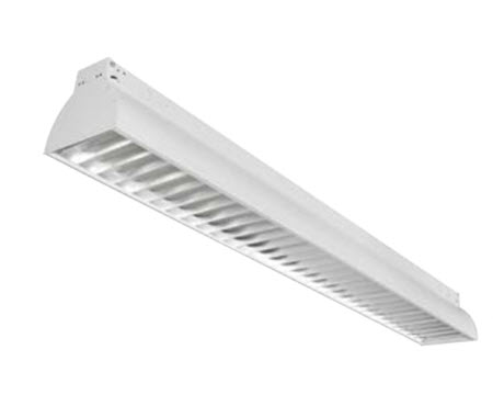 modern 8 inch hanging LEDing fixture in white with 2 3500K lamps included