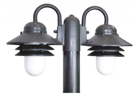 Led nautical dual post top light fixture led dual nautical post led nautical dual post top light fixture mozeypictures Gallery