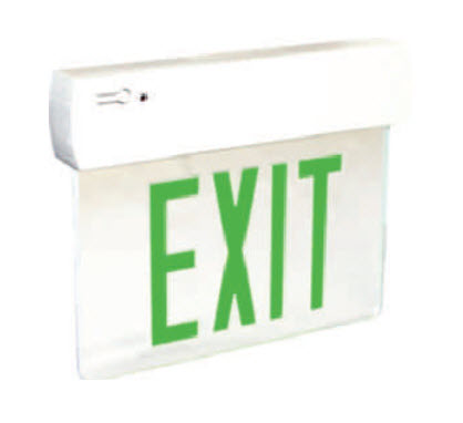 LED Plastic Edge Lit Exit signs - Green Letters
