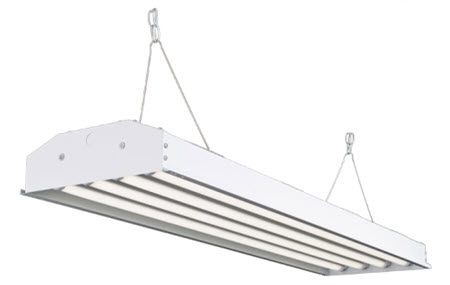 LED 4-lamp high bay light fixture with 104 watts - 14,000 lumens