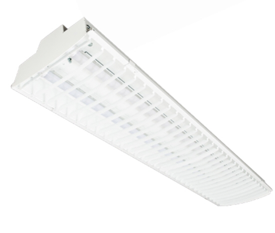 LED baffled fluorescent lighting fixtures - 3 prong plug