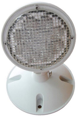 Single Head LED Weatherproof Remote Emergency Light