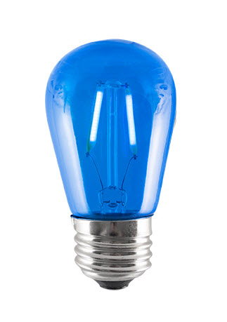 LED S14 blue light bulbs - 4 watt