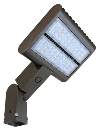 LED slip fitter mount flood lighting fixture