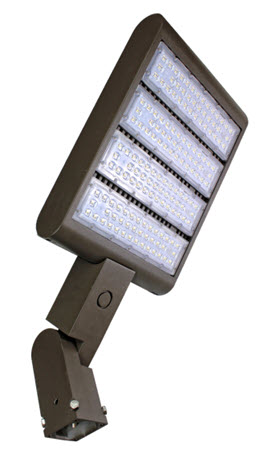 LED slip fitter mount flood lighting fixture - 220 watt