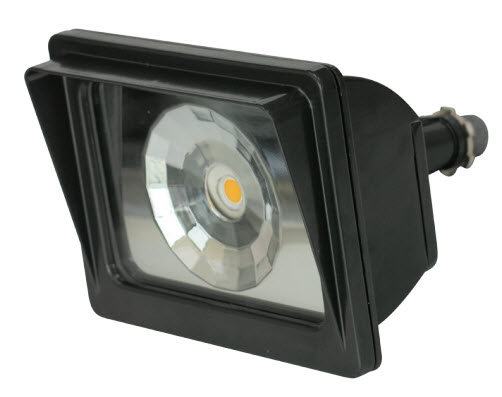 LED small square flood light fixture with 24 watts.