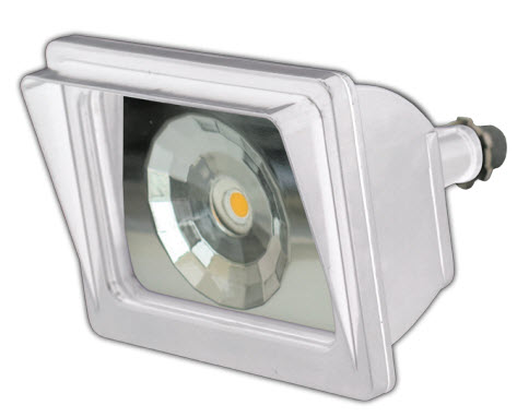 LED small square flood light fixture with 12 watts.