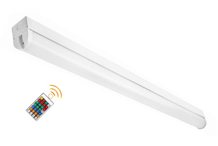 LED stairwell bi-level architectural strip light fixture - 4000K