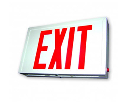 LED steel emergency exit signs
