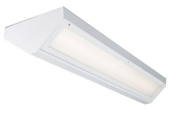 LED surface mount vandal resistant light fixtures in 2 foot length