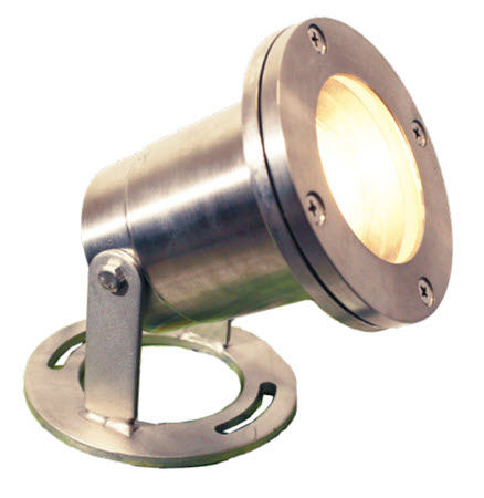 LED underwater light fixture - stainless steel