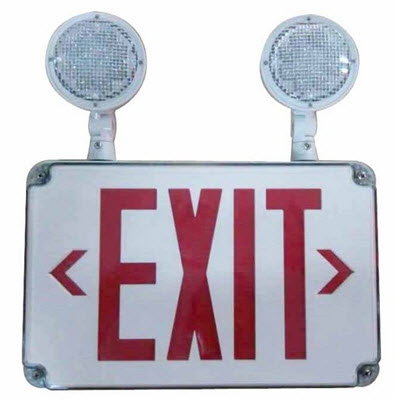 LED thin wet location combo exit signs