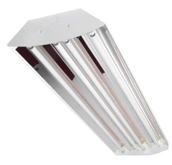 LED premium 8-lamp bay light fixture with 144 watts