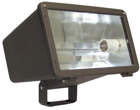 High Pressure Sodium Large Horizontal Flood Light Fixtures 400 Watt