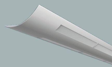 Linear Indirect Fluorescent White Lens Light Fixture