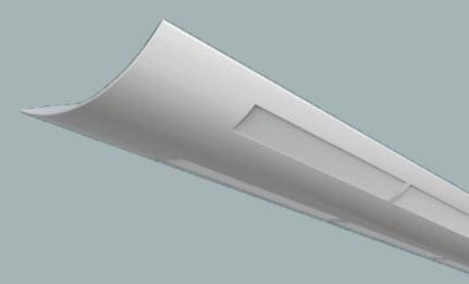 Linear Indirect Fluorescent White Lens Light Fixture 866