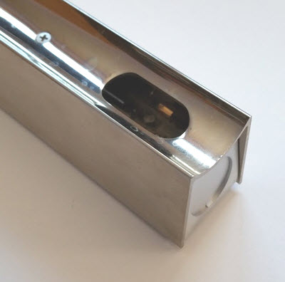 linestra light fixtures satin nickel finish osram 50 cm