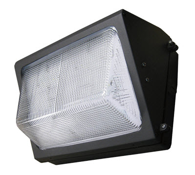 Lumecon LED wall pack light fixture with 60 watts.