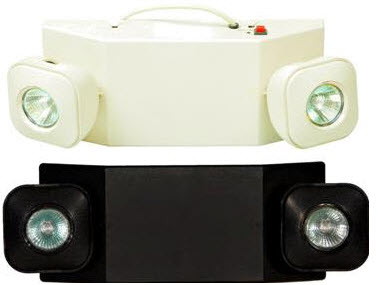 MR16 2-head emergency lighting fixture