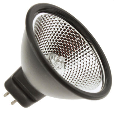 EXN MR16 black back halogen light bulbs prevent rear back light spill.