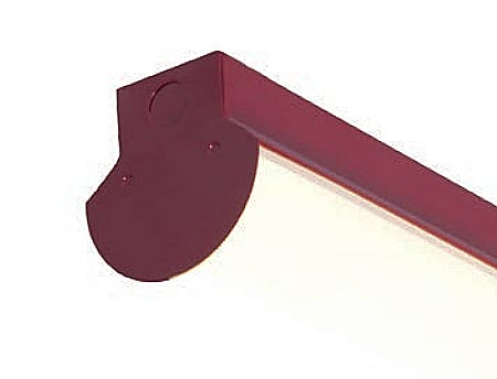LED Contoured Strip Light Fixture - 48 inch - 30 Watt - Red Finish