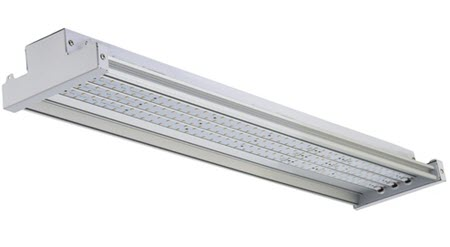 Morris LED High Bay I-Beam Design Light Fixture - 100 Watt with Sensor