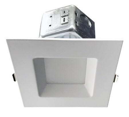 Morris LED new construction square recessed light fixture - 6 inch - 4000K