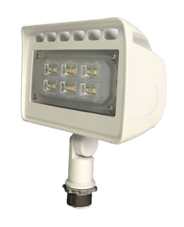 Morris LED Flood lighting Fixture - White - 12 Watt - 5000K