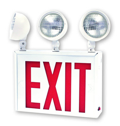 LED NYC-approved combo emergency exit sign