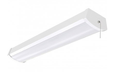LED Ceiling Wrap surface light fixture 4 Foot - 40 Watt With Pull Chain