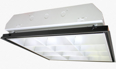 Parabolic 2X2 12 cell light fixture