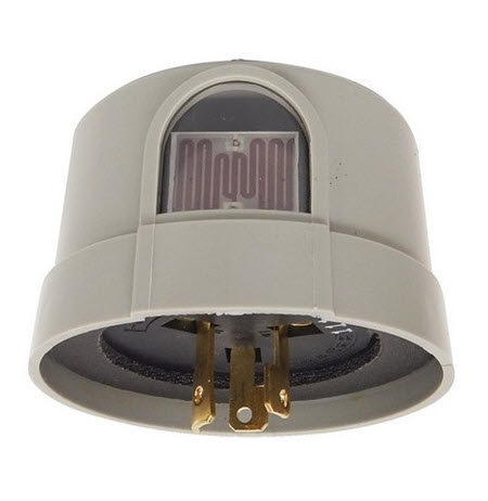Photocell locking plug lighting control 120 volt spec grade