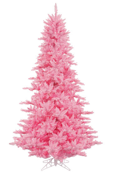 6.5' Light Pink Fir Christmas Tree - 600 LED Pink Light