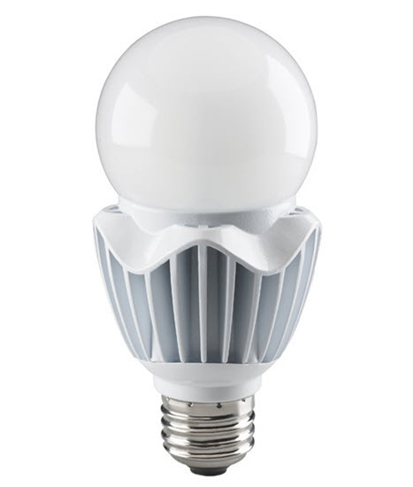 Satco LED dimmable high lumen A21 light bulbs office white 4000K color