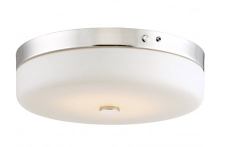 Satco LED flush mount light fixture 62-981 with emergency battery backup
