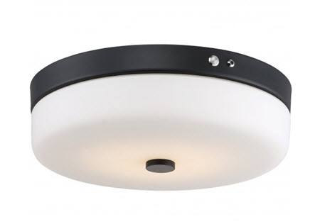 Satco LED flush mount light fixture 62-981 with emergency battery backup - aged bronze