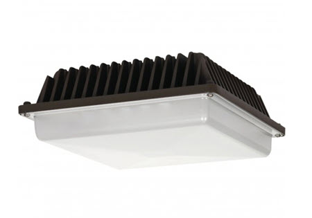 Satco Led Low Profile Canopy Light Fixture With 39 Watts