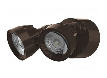 Satco LED Security Flood lighting Fixture - Bronze Finish