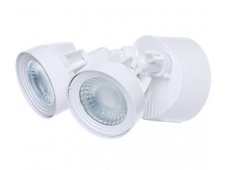 Satco LED Security Flood lighting Fixture - White Finish