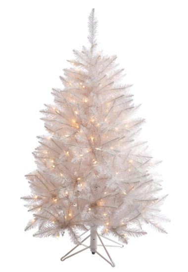 3.5' Sparkle White Spruce Artificial Christmas Tree - 150 Warm White LED