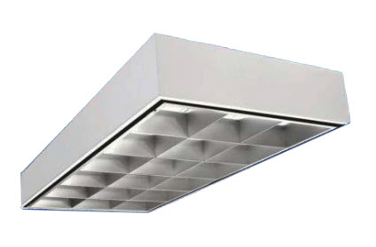 office light fixture. LED 2x4 Surface Mount Parabolic Light Fixture - 48 Watt Office I