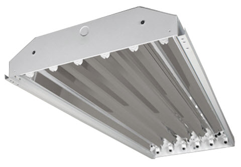 6 lamp enclosed high bay fluorescent light fixtures - Shop great ...