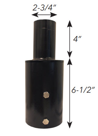 Tenon top adapter for 3 inch round poles
