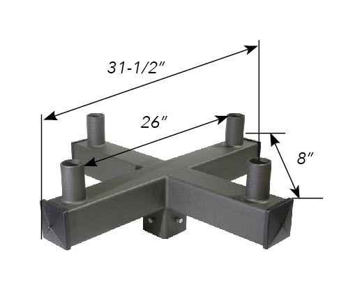 "Tenon Bullhorn Top Adapter for 4"" square pole"